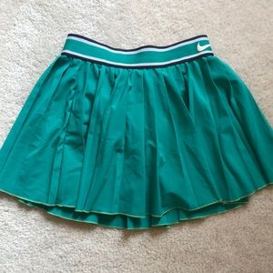 Nike tennis skirt pleated green xs extra-small